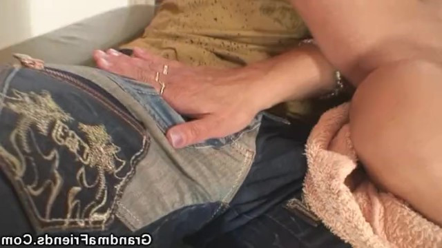 The boys came to return the friend's debt and fucked his horny mature redhead mom