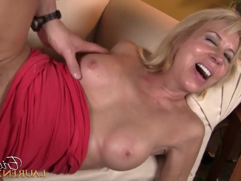 The neighbor brightened up the loneliness of sexy blonde milf Erica Lauren with sweet fuck in pussy