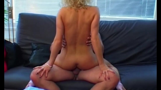 Thick blonde milf wanted to party and she jumped on man's big dick