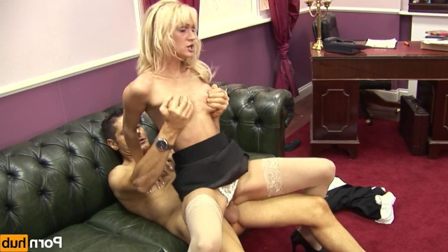 Thin blonde milf became an employee of the year after amazing sex with the boss