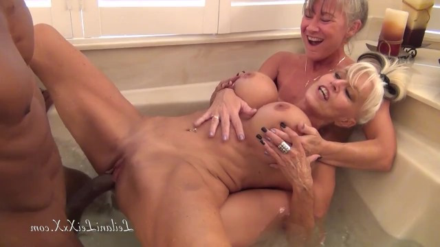 To have fun as in their youth, two mature milfs decided to arrange a gangbang