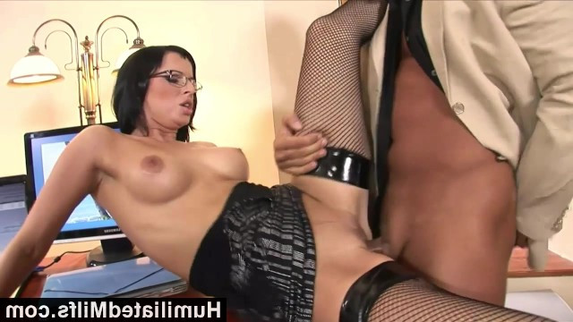 Top milf Black Renata works as a secretary and fucks with her boss