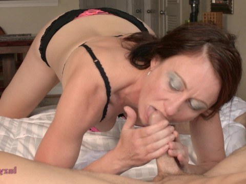 Woman sucks guy's eggs and licks the whole hot dick